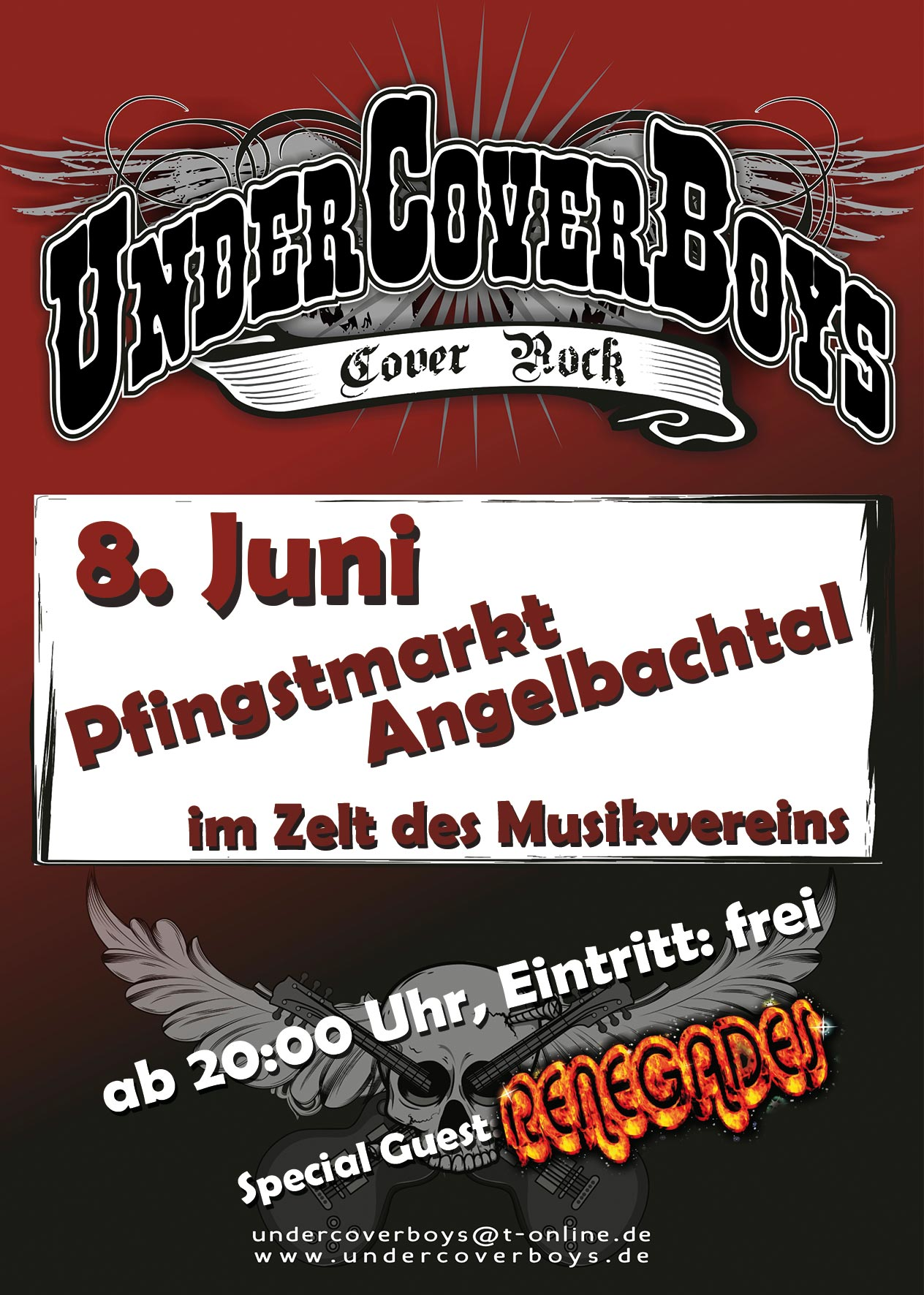 UnderCoverBoys@Pfingstmarkt Angelbachtal